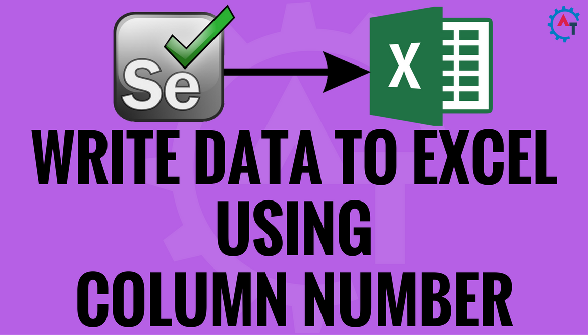 WRITE DATA TO EXCEL USING COLUMN NUMBER