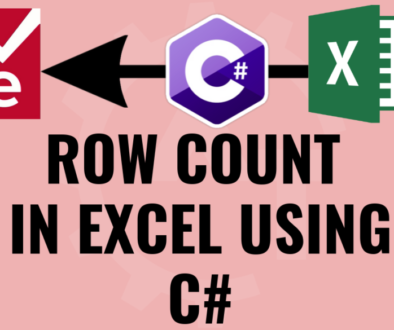 Row count in EXCEL Using C#