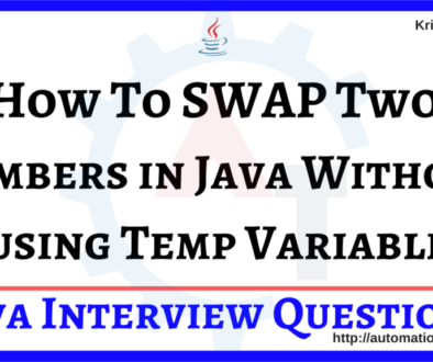 How To SWAP Two Numbers in Java Without using Temp Variable