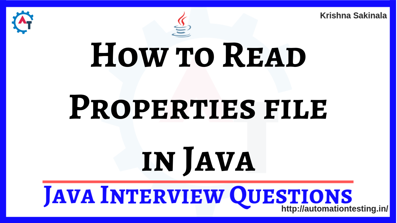 How to Read Properties file in Java